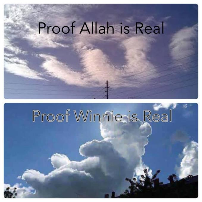 logic funny Allah winnie the pooh clouds miracles signs