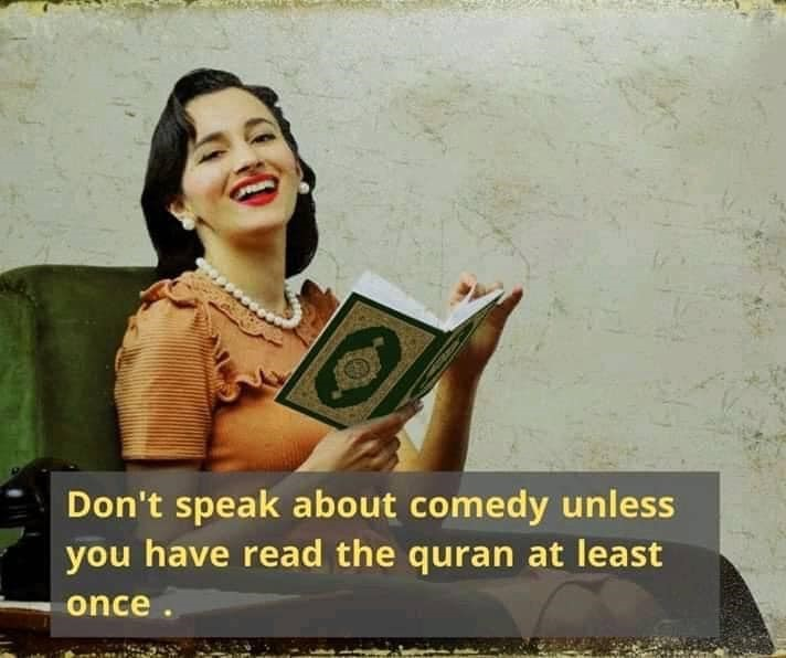 Quran funny comedy reading exmuslm quote Ex-Muslim