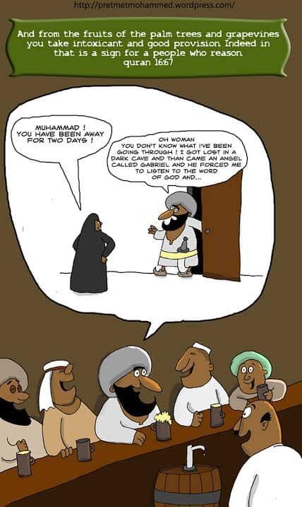 alcohol quran muhammad mohammad drinking joke funny