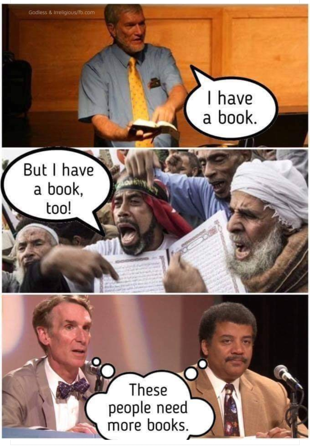 quran bible have book need books angry funny