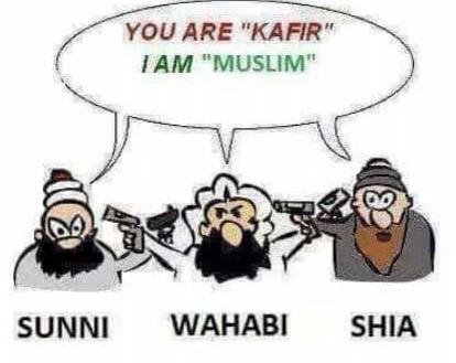 infighting shia sunni history religion of peace real Islam wahabi kafir