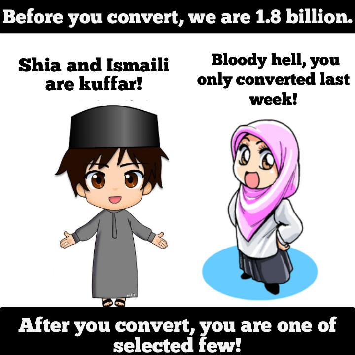 Converts Shia Sunni Ismaili civil wars