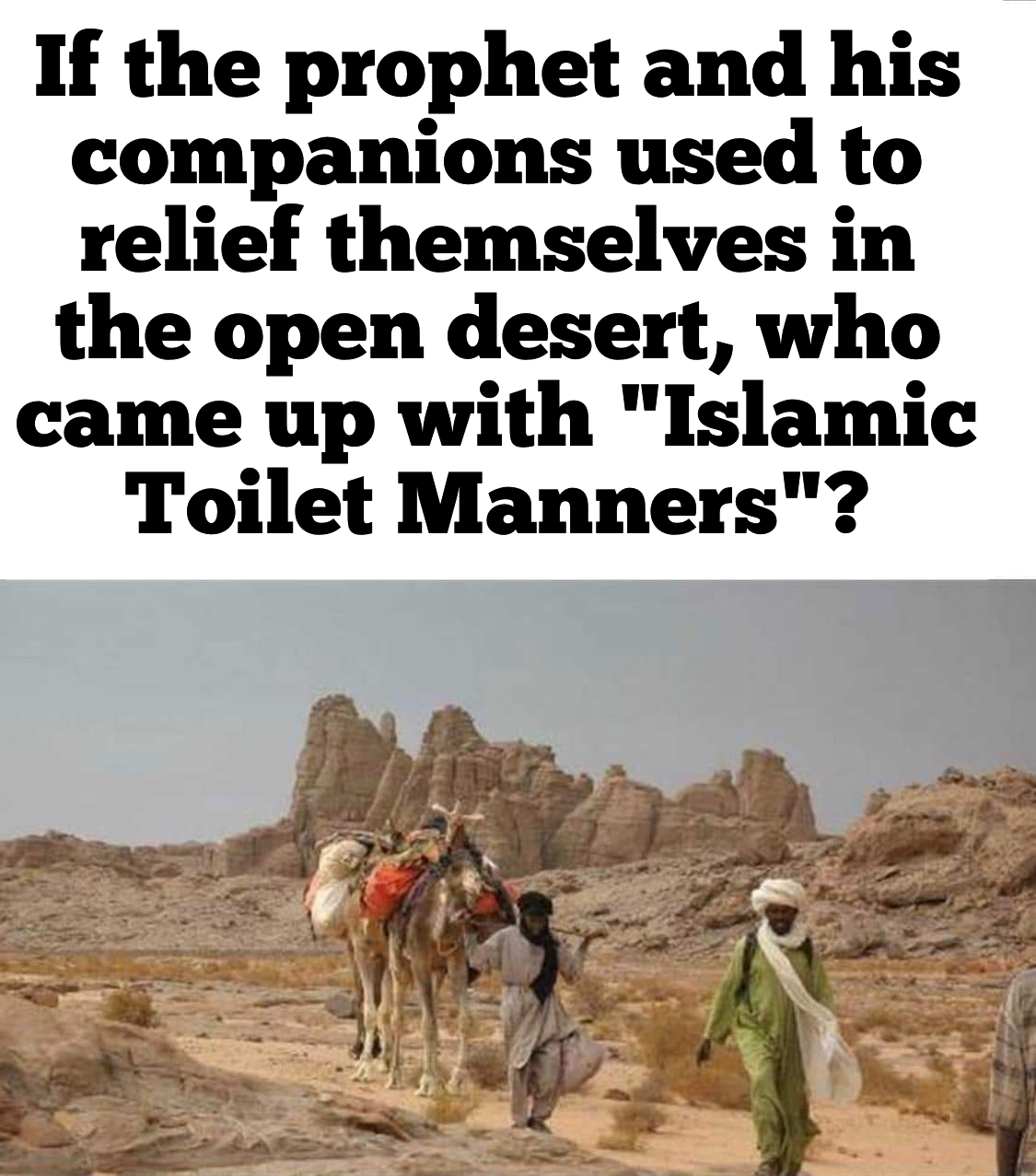 Where did we learn toilet manners?
