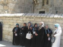 04. women near the entrance of our church and monastery