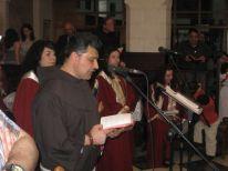 13. fellow friar Ibrahim from Jordan during celebration on Good Friday