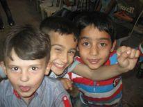 23. boys in Al Azza camp
