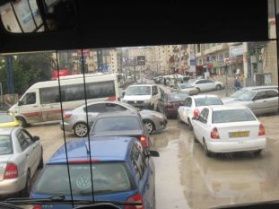 01. traffic chaos in Ramallah