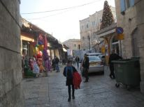 05. Christmastree in the old city of Jerusalem