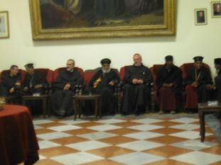 02. Ethiopian patriarch between Custos and vice-Custos