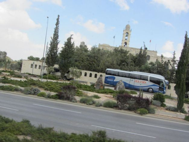 01. monastery Elias near checkpoint of Bethlehem
