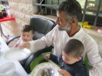 10. grandfather with his grandsons