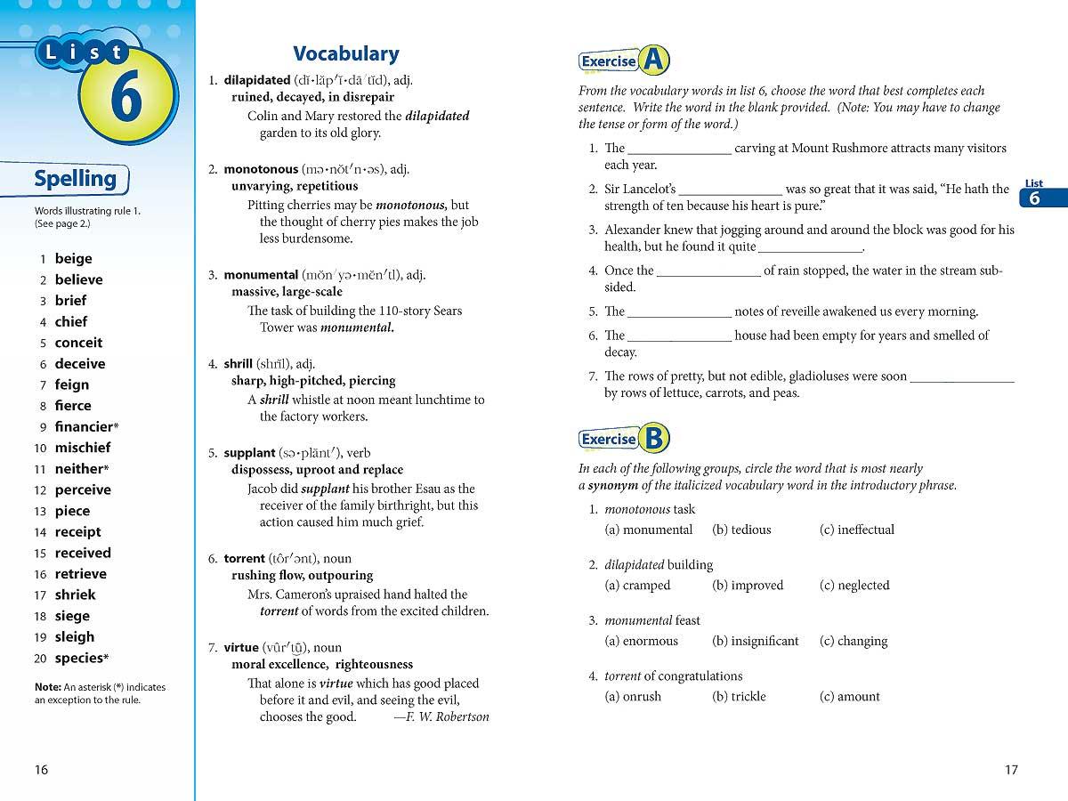Vocabulary Spelling Poetry I