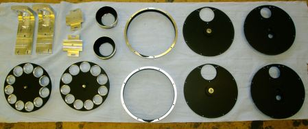 AUPE2 filter wheel and housing components ready for assembly