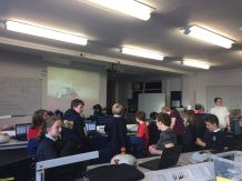 Aberystwyth Robotics Club watch Schiaparelli's descent to Mars