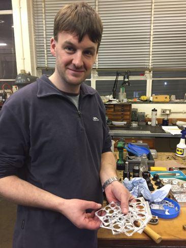 Dr Matt Gunn working on the PanCam Calibration Target hardware