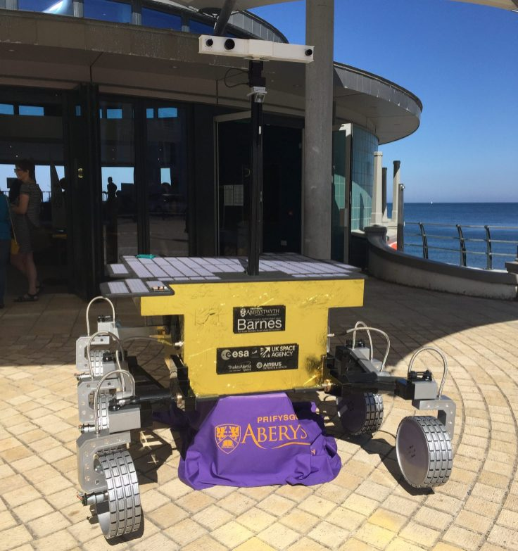 Barnes: the full scale ExoMars rover model at Beach Lab 2018