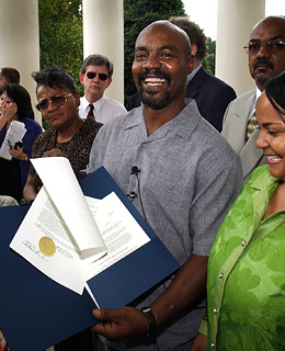 Marvin Anderson became the first Virginian to be cleared of a crime by genetic testing after new results ruled him out as the perpetrator in 2001. Anderson, who spent 15 years in prison, was convicted based on testimony from the victim in the case, who identified him in a conventional lineup.