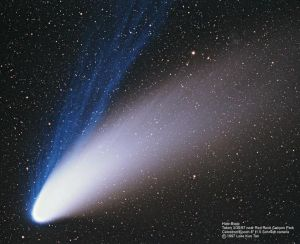 Image of Comet Hale-Bopp taken by Wally Pacholka on April 5, 1997 from the Joshua Tree National Park in California. Credit: NASA