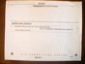 NORAD Status Event ATC Report