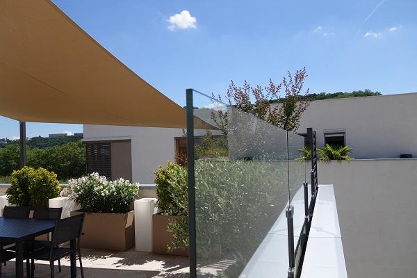 pare vent terrasse transparent