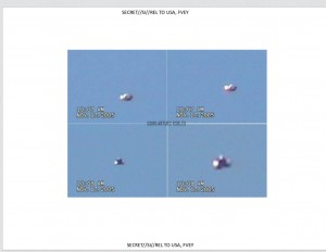 Screen shot of UFO video shot in Mexico