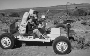 "1971: NASA astronauts training on ""moon buggy."" Credit: NASA"