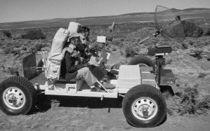 "1971: NASA astronauts training on ""moon buggy."" Credit: NASA"