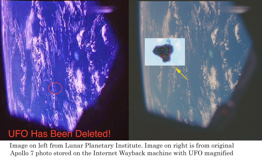 UFO deletion from Apollo 7 photo