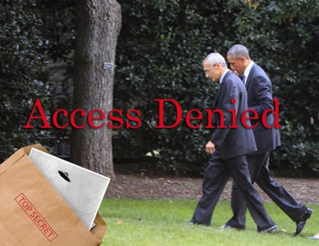 Obama Podesta in discussion - access denied
