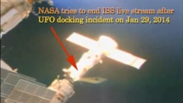 To watch video of docked UFO at ISS click here
