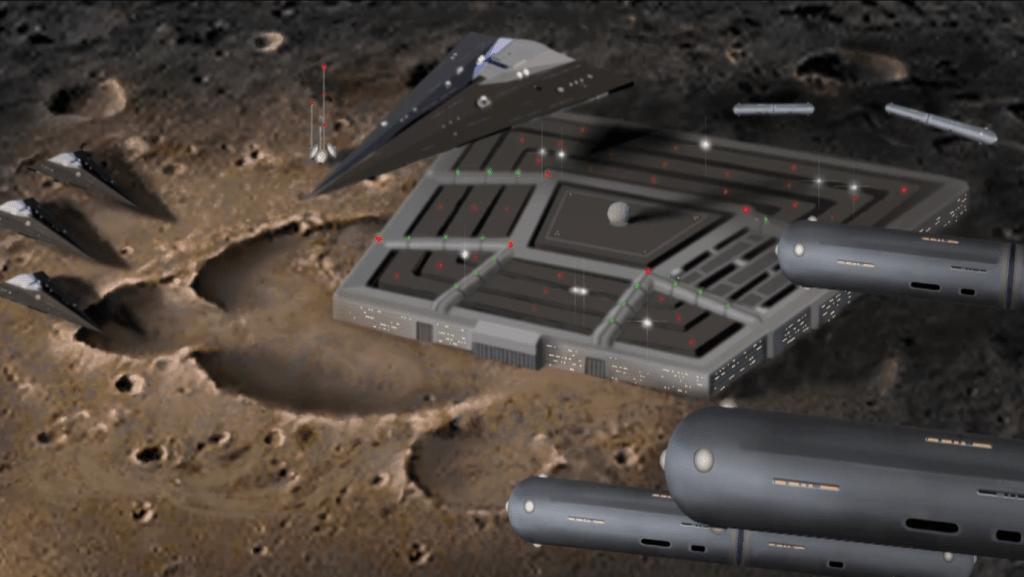 Dark Fleet Base on Moon