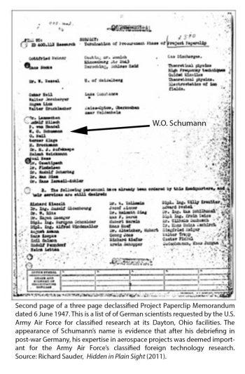 Paperclip Memorandum Schumann