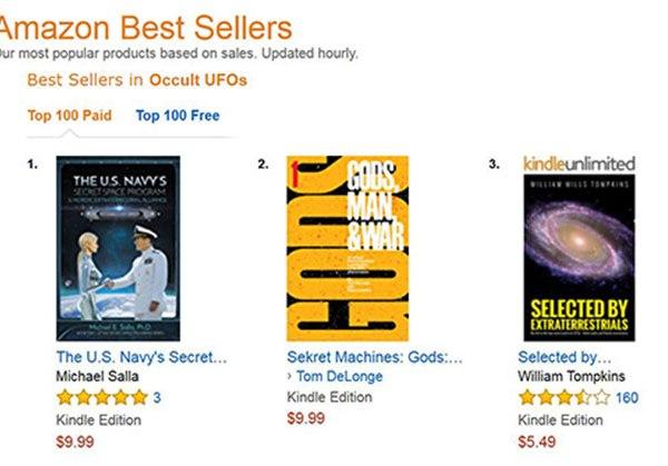 secret space programs top amazons best seller list