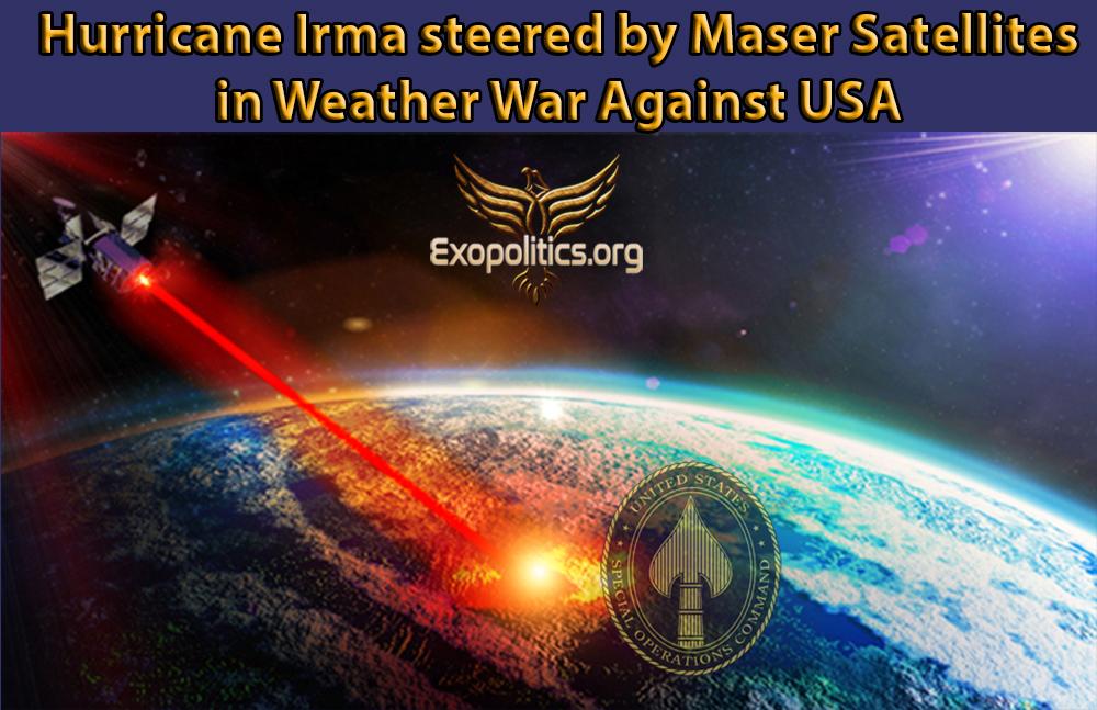 Трамп об использовании космического оружия против Северной Кореи, и начала раскрытия секретной космической программы Hurricane-Irma-Weather-War