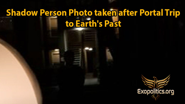 Shadow Person Photo taken after Portal Trip to Earth's Past