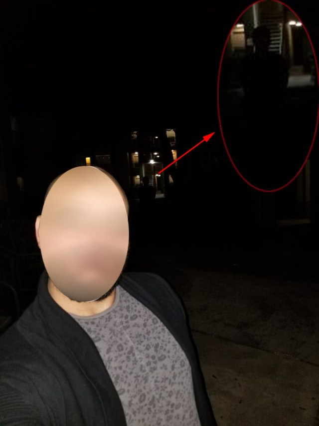 Shadow Person Photo taken after Portal Trip to Earth's Past Shadow-Man-selfie-close-up