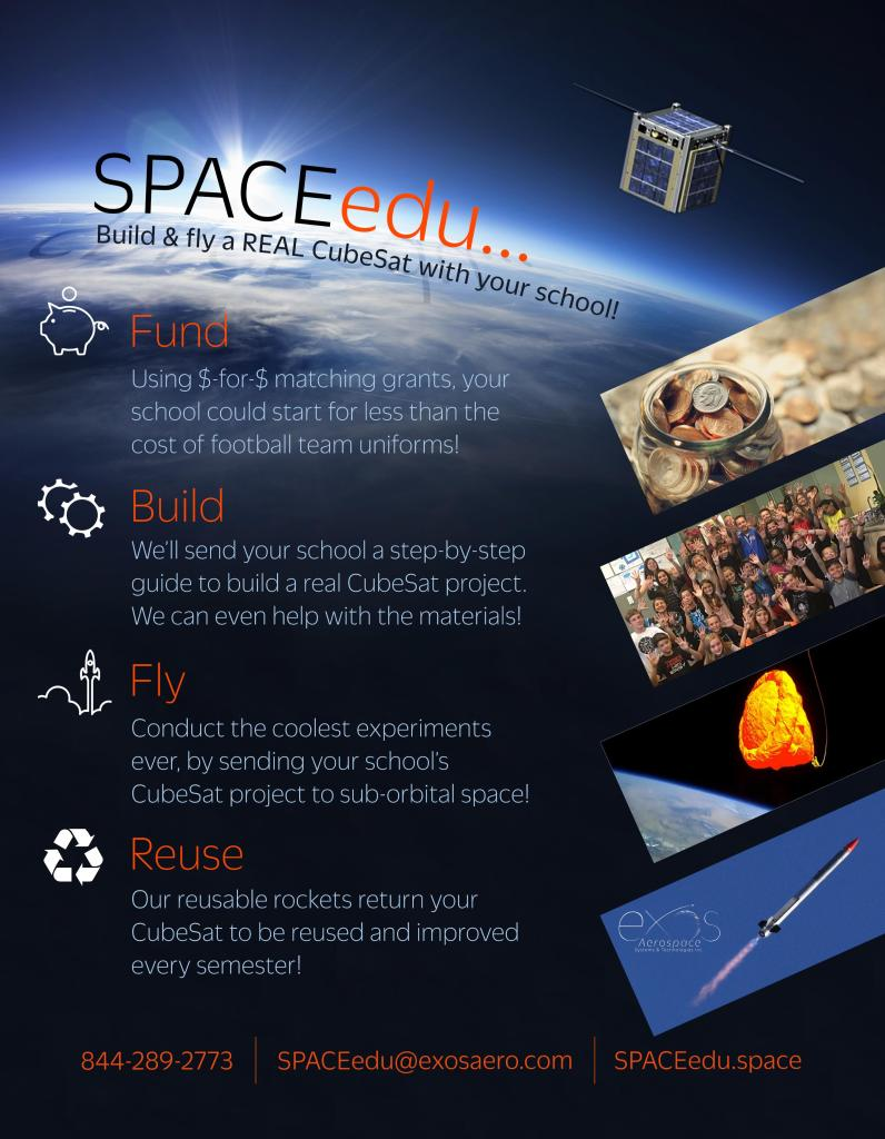 SPACEedu - Education Flyer Back