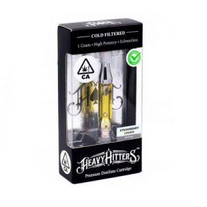 Heavy Hitters 1G vape strawberry cough
