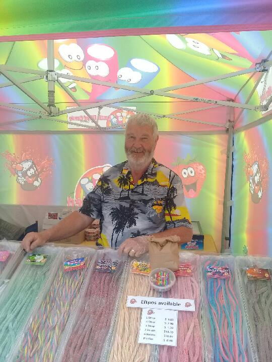 Exotic Filled Candy - Arnold at the Buskers Festival