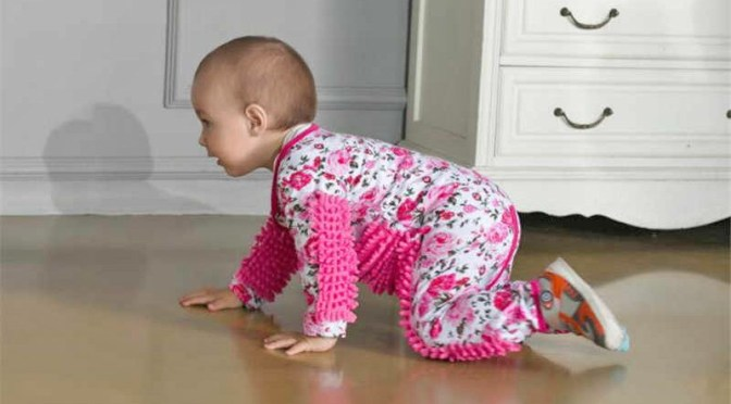You Can Now Get a Baby Mop Onesie So Your Baby Can Help You Clean Your Floors