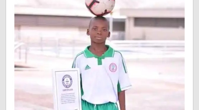 Chinonso Eche sets a Guinness world record with 101 touches