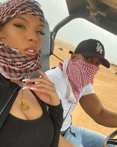Amirah Dyme and her new man | www.exoticempire.com.ng