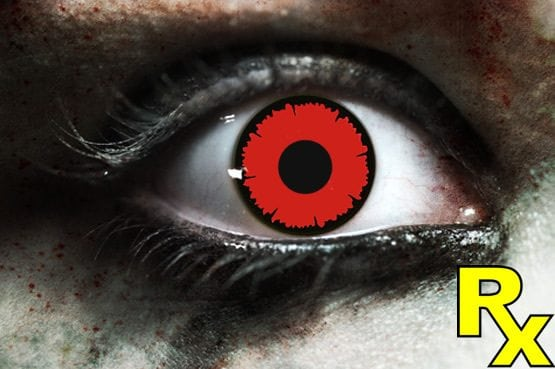 Angelic Red Gothika Contact Lenses
