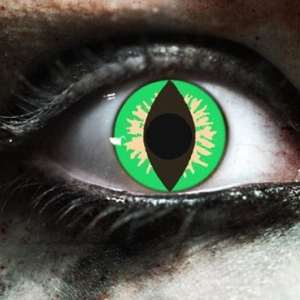 Green Reptile Gothika Contact Lenses