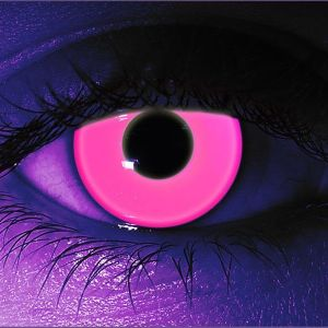 Pink UV Gothika Contact Lenses