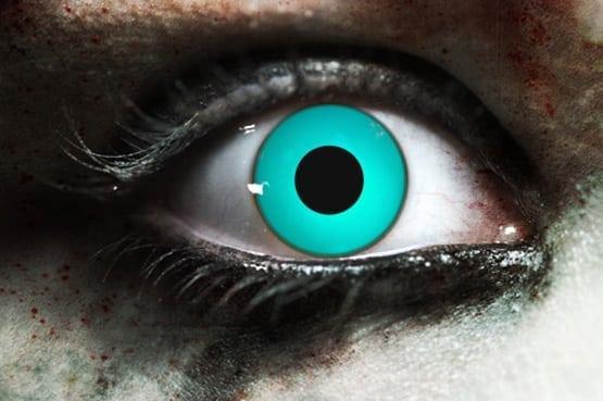 Zombie Blue Gothika Contact Lenses