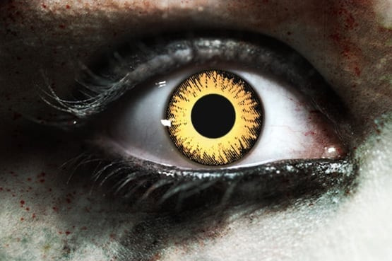 Zombie Undead Yellow Gothika Contact Lenses