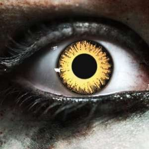 Zombie Undead Yellow Gothika Contact Lenses