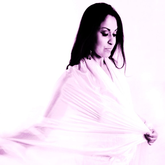 Lisa Joy portfolio pic in ethereal pink and white