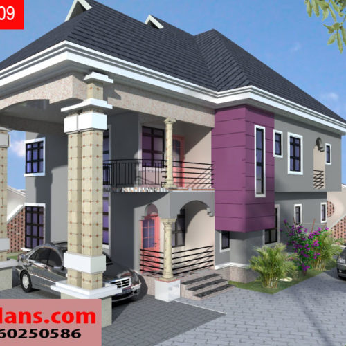 4 bedroom duplex designs in nigeria for Estimated cost building duplex